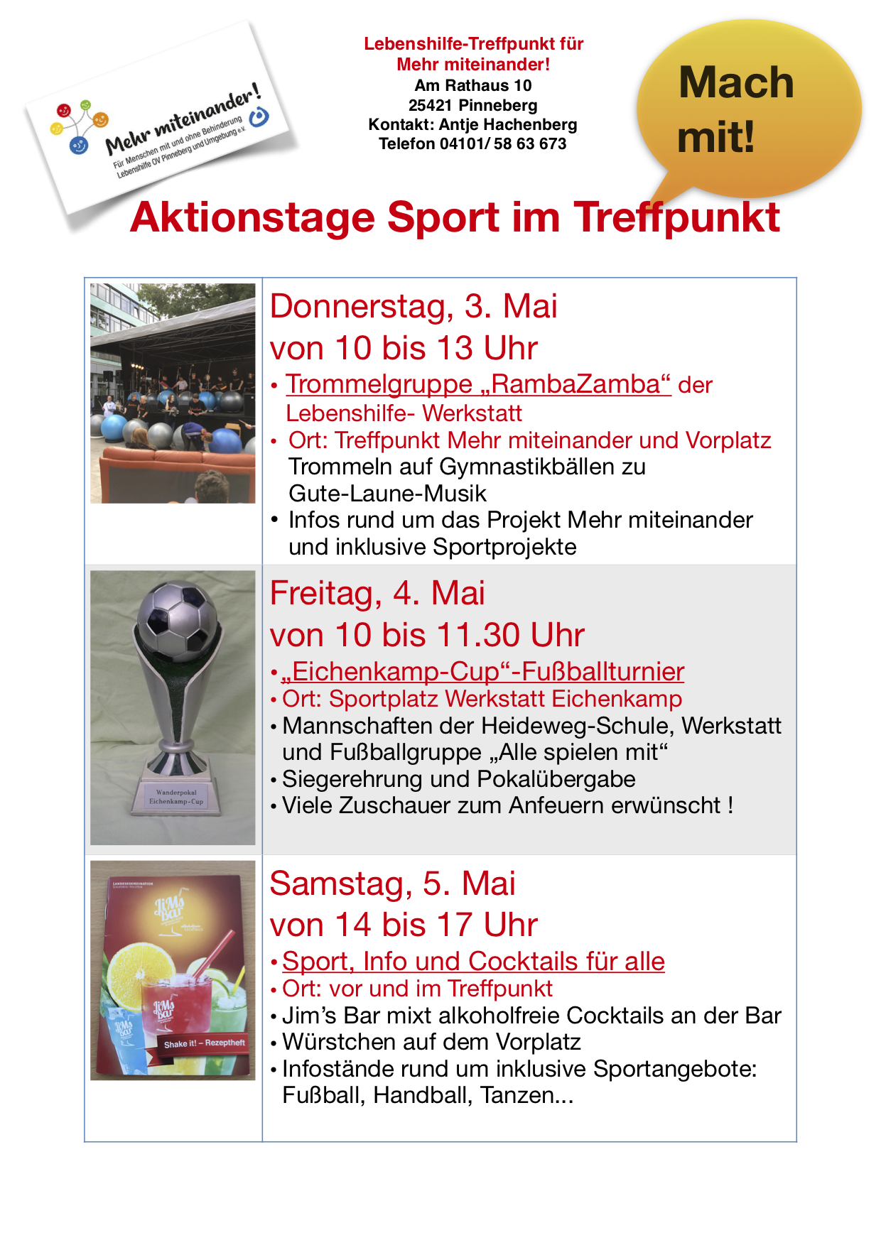 Aktionstage Sport Mai 2018